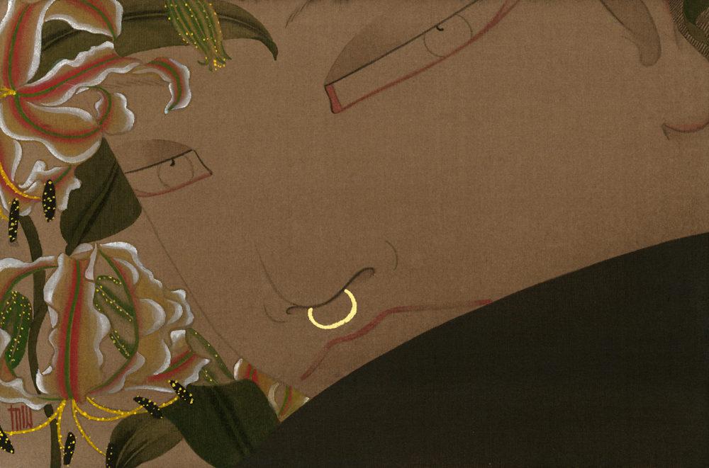 狄青(ディーチン) Di Qing「映」16.0×23.0cm