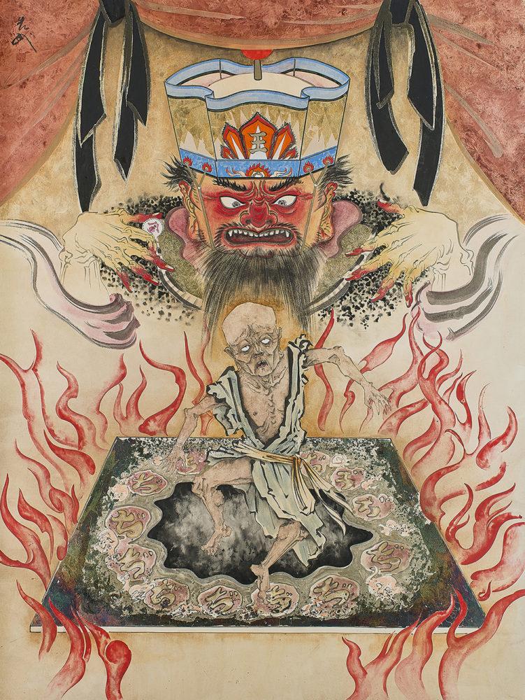 服部しほり「地獄の沙汰も金次第」60F(130.3×97.0cm)