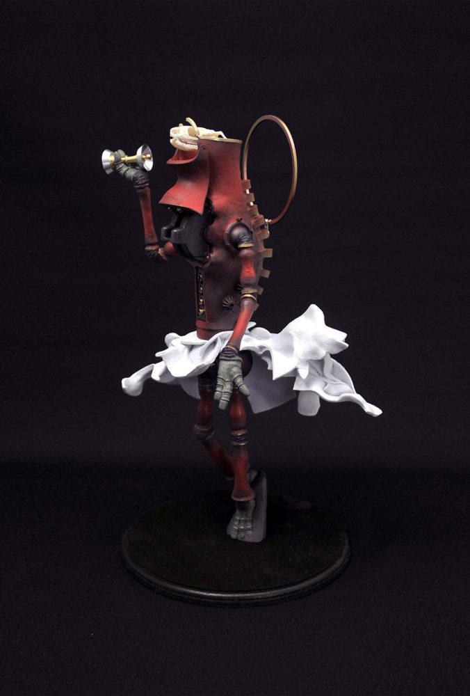 上根拓馬「6ガーディアンズ , the Mahakala no.3 摩伽迦羅大黒女」25.0×25.0×35.0cm