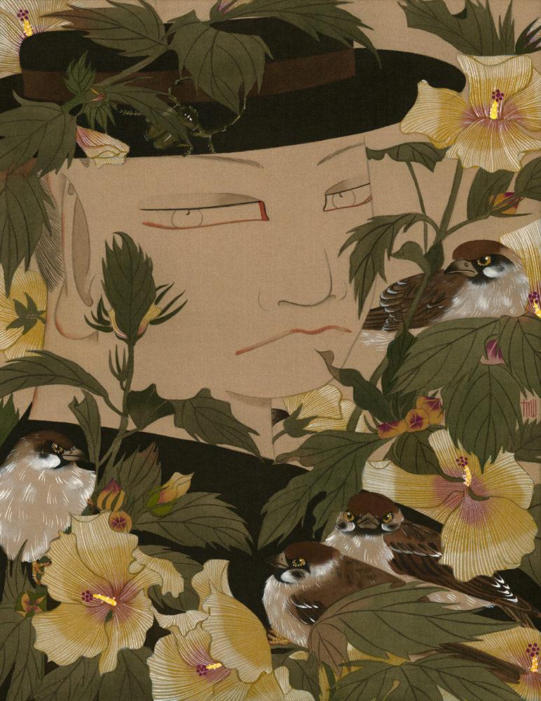 狄青(ディーチン) Di Qing「流光」34.0×25.0cm
