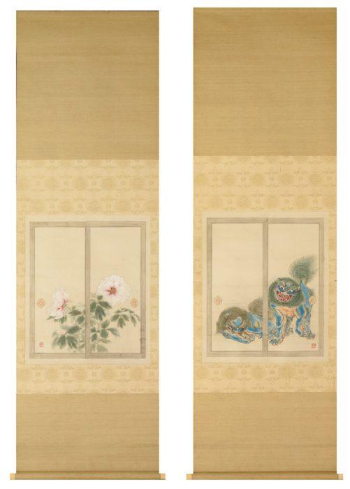 "Shimomura Kanzan ""Peony and Lion"""