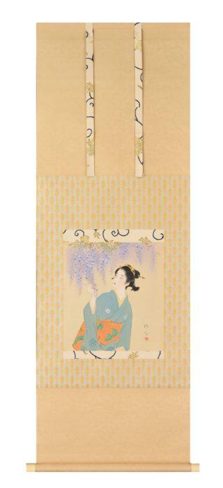 "Kaburaki Kiyokata ""Wisteria Flowers"""
