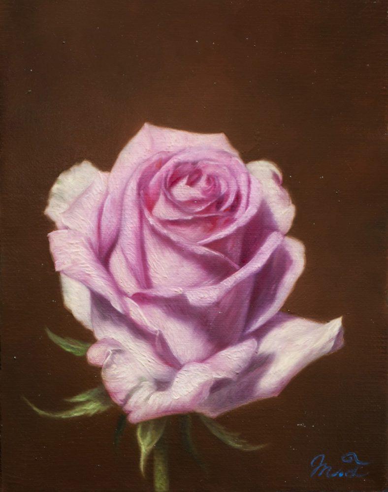 三嶋 哲也「ピンクの薔薇」 価格はお問い合わせください