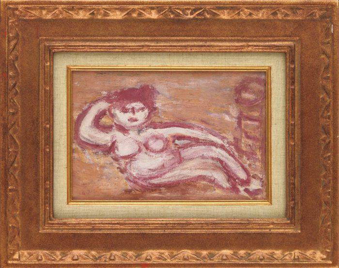 長谷川 利行「横たわる裸婦」