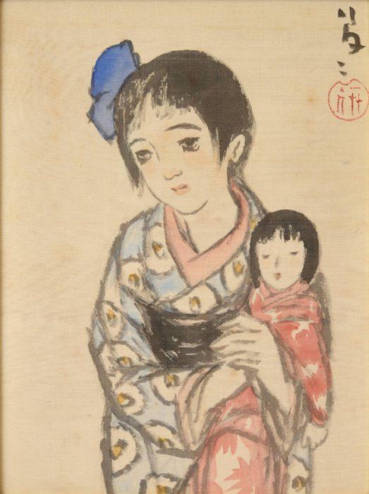 """Takehisa Yumeji """"Girl with Doll"""""""