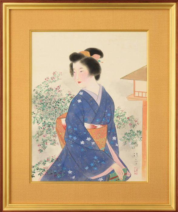 """Kaburaki Kiyokata """"Hagi Garden"""""""