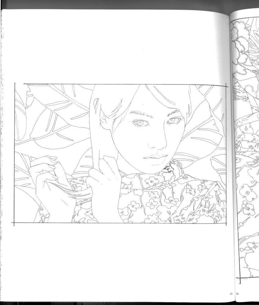 コンテスト課題、池永康晟「撫でる・恵美子」の下図