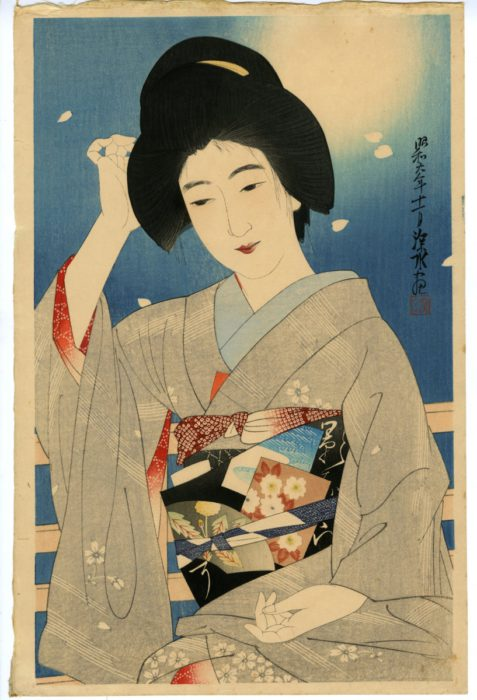 "Ito Shinsui ""The Second Series of the Modern Beauties, Hazy Moon"""