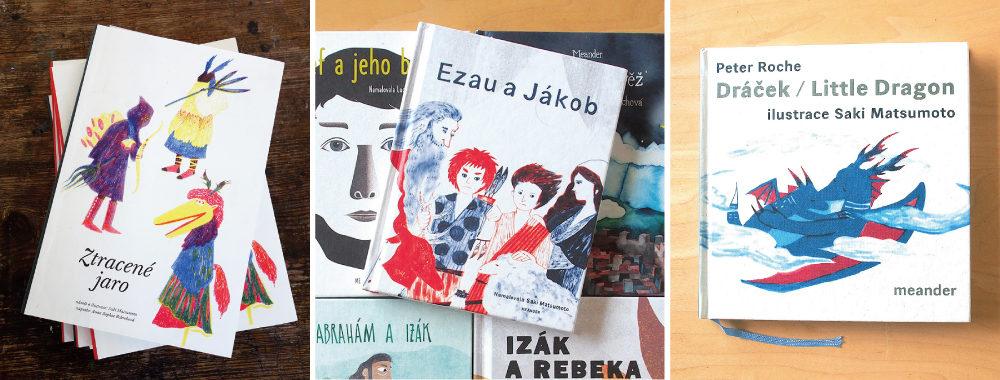 松本沙希さんの本 ギャラリーとWEBで販売します 左:The Lost Spring 中:Ezau a Jakob 右:Little dragon