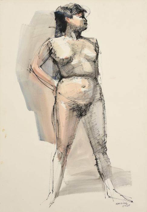 小磯 良平「裸婦立像」
