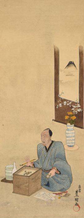 三代 歌川 豊国「自画像」