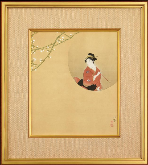 上村 松園「円窓美人」