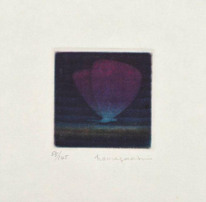 浜口 陽三「青紫色の蝶」