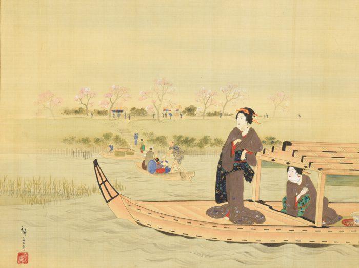 歌川 広重(二代目)「隅田川遊楽図」