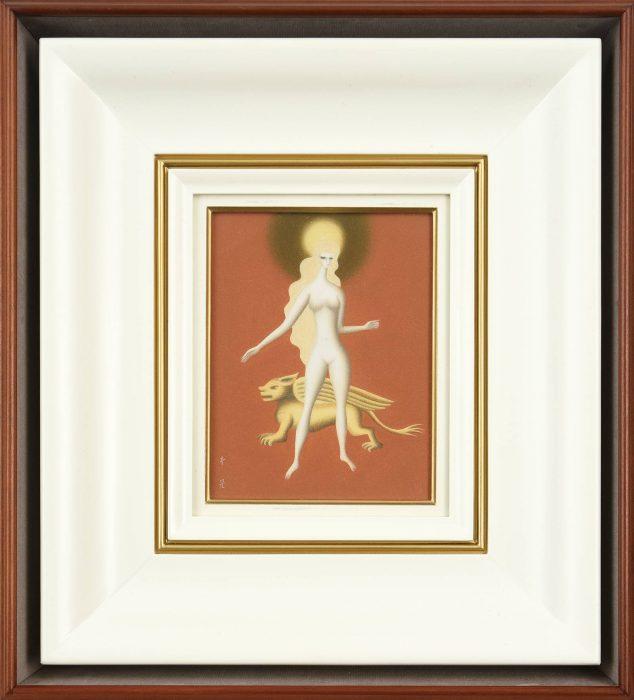 東郷 青児「裸婦像(金の犬)」