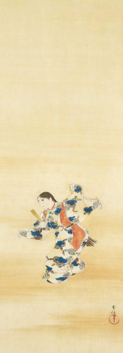 神坂 雪佳「延年舞図」