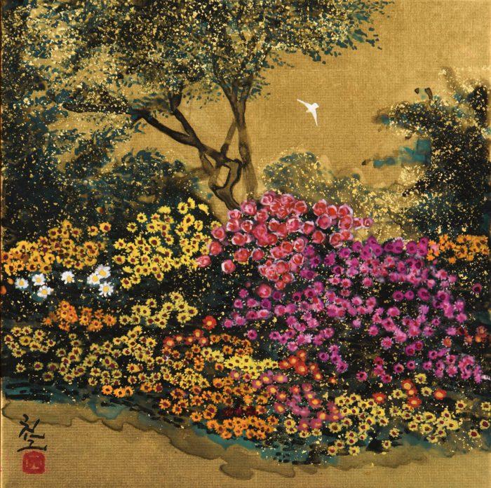 平松 礼二「モネの花庭」
