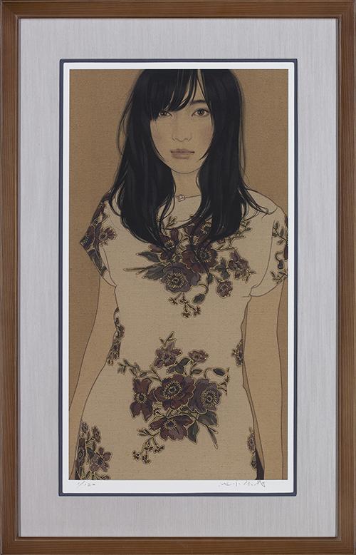 池永康晟「睨める・穂波」(アーカイバル)画寸65.0×34.7cm、額寸88×56cm アーカイバルプリント 2015年
